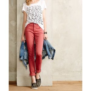 Pilcro and the Letterpress Stet pants red 25